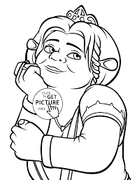 princess fiona coloring pages for kids printable free coloing