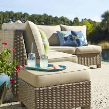 Patio Furniture Lowes Canada - crafted with hand woven polyethylene outdoor wicker this patio