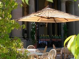 Offset Patio Umbrella by Offset Patio Umbrella Steel Girasole Lusso Garden Art