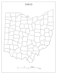 Van Wert Ohio Map by Ohio Blank Map