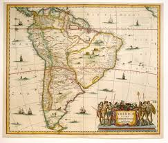 Map Of The South America by Antique Map Janssonius South America