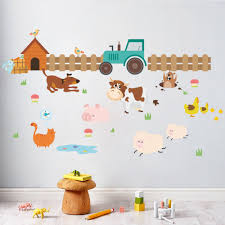 online get cheap farm decals aliexpress com alibaba group farm animals wall stickers kids room bedroom living room decorations adesivos de parede diy home