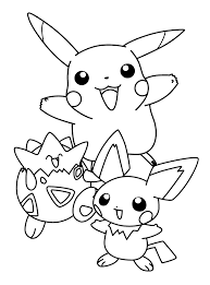 pokemon color pikachu pokemon coloring pages coloring