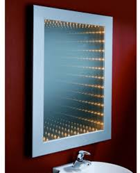 bathroom mirror with light and shaving point placing bathroom