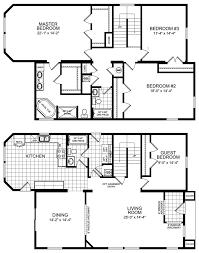 Simple 4 Bedroom Floor Plans 4 Bedroom Floor Plan Four Bedroom Mobile Homes L 4 Bedroom Floor