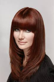 layered hairstyles oval faces with bangs