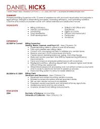 Resume Job Duties Examples Billing Clerk Job Description For Resume Resume For Your Job