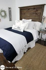 best 25 navy white bedrooms ideas only on pinterest navy and master and guest bedroom farmhouse navy white ticking stripe ties custom designer bedding collection