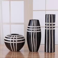 piece set modern fashion brief vase set derlook black vase
