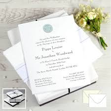 folded invitation personalised wedding invitations honeytree