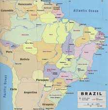 Political Map Of Latin America by Large Detailed Political And Administrative Map Of Brazil With