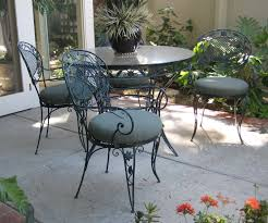 Black Wrought Iron Patio Furniture Sets by Furniture Round Black Wrought Iron Tables And Chairs Having Round
