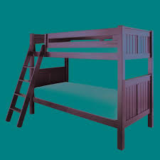 Black Childrens Bedroom Furniture Bedroom Kids Room Stylish Black Stained Wooden Bunk Bed With