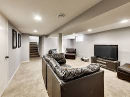 Exposed Beam Ceiling Living Room by Contemporary Basement With Columns U0026 High Ceiling In Hopkins Mn
