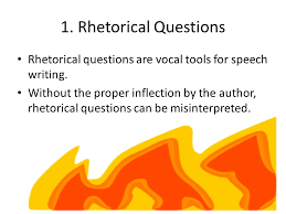 rhetorical questions in research papers
