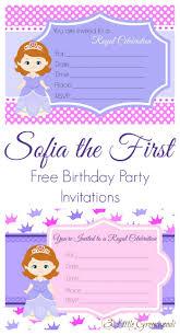 1st birthday princess invitation sofia the first birthday invites