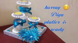 diy diwali diya platter christmas home decoration ideas how to