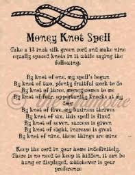 Magick Spells  Money Knot  Spell  Pinterest