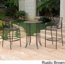 Black Wrought Iron Patio Furniture Sets by Wrought Iron Bistro Set With Bar Table And Two Barstools Patio Table