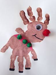 10 handprint christmas crafts for kids reindeer craft craft and