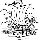 viking longship template