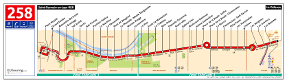 Charles De Gaulle Airport Map Ratp Route Maps For Paris Bus Lines 250 Through To 259
