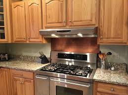 copper backsplash home improvement design and decoration