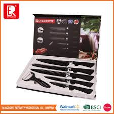 best selling new type 6 pcs swiss line block knife set buy knife