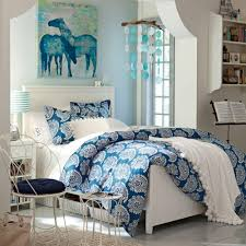 Girls Horse Bedding Set by Engaging Bedroom Idea For Teen With White Wooden Bed Frame