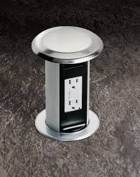 Kitchen Island Electrical Outlet Carlon Pop Up Kitchen Receptacle From Thomas U0026 Betts Provides A