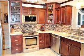 cherry kitchen cabinets with backsplash roselawnlutheran