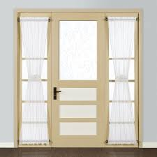 white doors with glass panels amazon com united curtain monte carlo sheer door curtain panel
