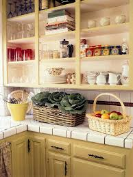 cabinets u0026 drawer marvelous yellow country kitchen open shelves