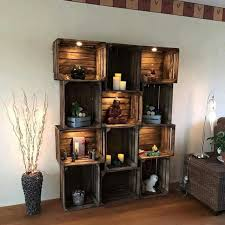 Build Wooden Shelf Unit by Best 25 Crate Shelving Ideas On Pinterest Wood Crate Shelves
