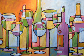 Artwork For Dining Room Abstract Wine Dining Room Bar Kitchen Art Time To Relax