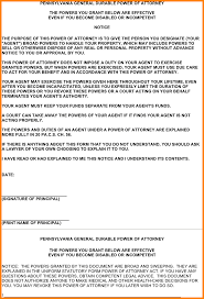 Durable Power Of Attorney Healthcare by 10 Pennsylvania Power Of Attorney Form Attorney Letterheads
