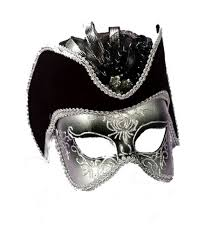 halloween mask costumes silver gentlemen halloween mask costume mask