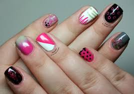 nail art nail art patterns dozen easy for and string heart free