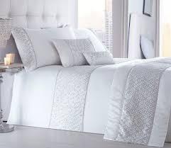 shimmer white quilt duvet cover sets bedding sets luxury quality