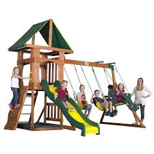 Cedar Playsets Amazon Com Backyard Discovery Santa Fe All Cedar Wood Playset