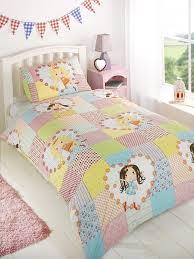 childrens girls fairy patchwork duvet cover quilt bedding set
