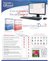 grace quilters creative design software on usb stick create