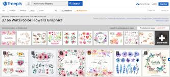 top places to find free watercolor flower designs online