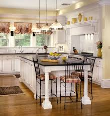 classic curtain for traditional kitchen with rug above wooden