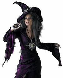 Teen Witch Halloween Costume Witch Halloween Costume Black Purple Pointed Hat Black Nail Polish