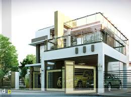 Modern Concrete Home Plans And Designs Modern Duplex House Designs Elvations Plans Cad Drawing My