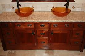 mission style vanity plans mission style bathroom cabinets