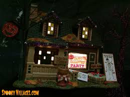 review u2013 department 56 halloween party house u2013 spookyvillages com