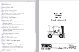 clark ewp45 forklift service repair workshop manual download