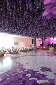 whimsical garden themed wedding concept in shades of purple u0026amp